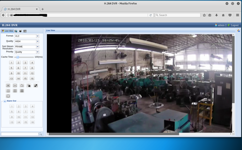 Publicly accessible and controllable warehouse security camera